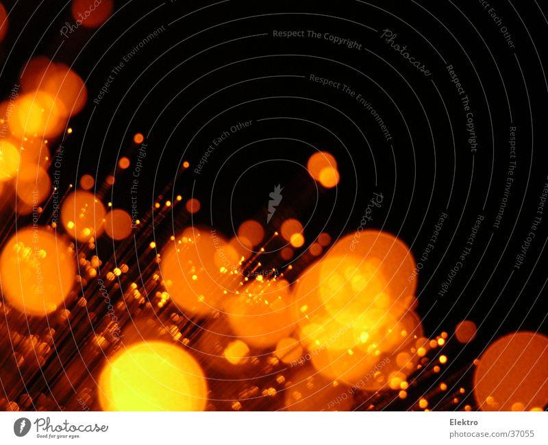 Capri Orange Licht Strahlung Lampe Glas Faser orange Glasfaser Laser Reflexion & Spiegelung Weihnachtsdekoration Silvester u. Neujahr Blendenfleck glänzend