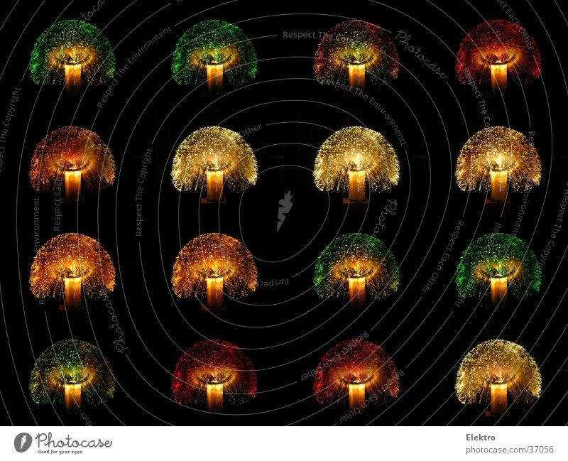 Hosentaschenfeuerwerk mehrfarbig Nacht Lampe Licht Siebziger Jahre Glasfaser Nachtruhe Fototechnik sampler Farbe knallig