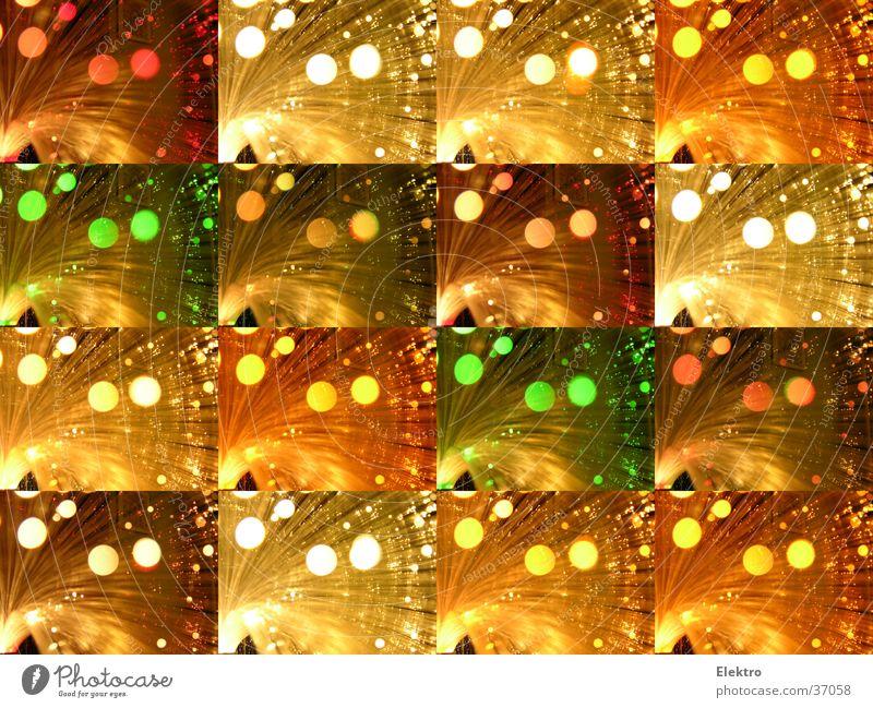 Capri rot-grün-weiß schön Lampe hell glänzend Glas Strahlung Glühbirne Neonlicht Nähgarn Laser Lichtbrechung Faser Blendenfleck Gotteshäuser Lichtschein