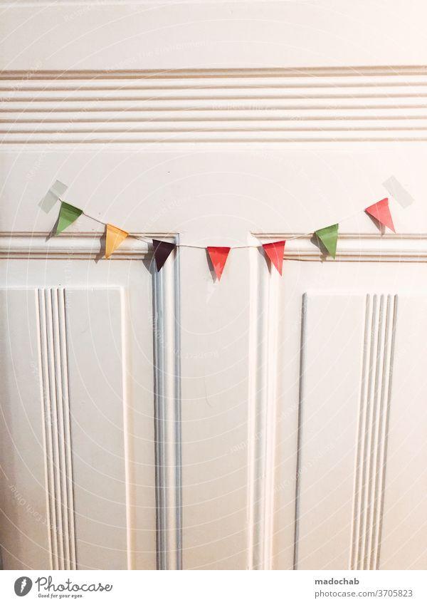 Jubel Trubel Heiterkeit Wimpelkette Deko Feste & Feiern Dekoration & Verzierung mehrfarbig Geburtstag Party Veranstaltung Entertainment Fröhlichkeit