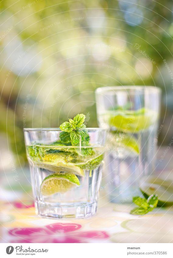 sauer macht lustig Frucht Limettenscheibe Zitronenmelisse Ernährung Bioprodukte Getränk Erfrischungsgetränk Trinkwasser Limonade Alkohol Longdrink Cocktail
