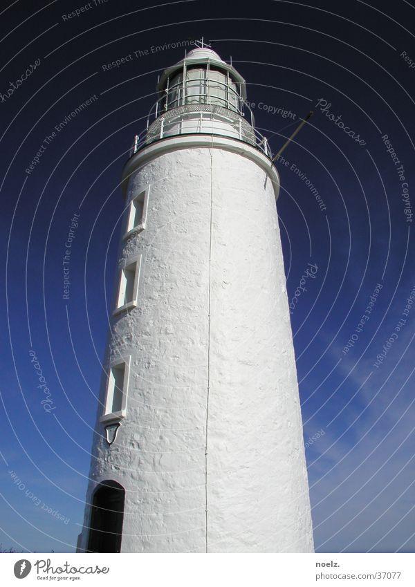 LEUCHTTURM | WEISS Leuchtturm weiß Wolken Australien Tasmanien Architektur Blauer Himmel Turm