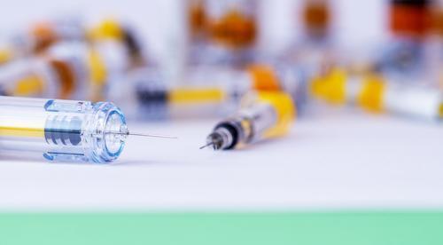 Spritzen. Forschung, Medizin, Pharmazie und Gesundheitswesen Alternative Therapie Antibiotikum Hintergrund Schönheitsbehandlung Pflege Nahaufnahme