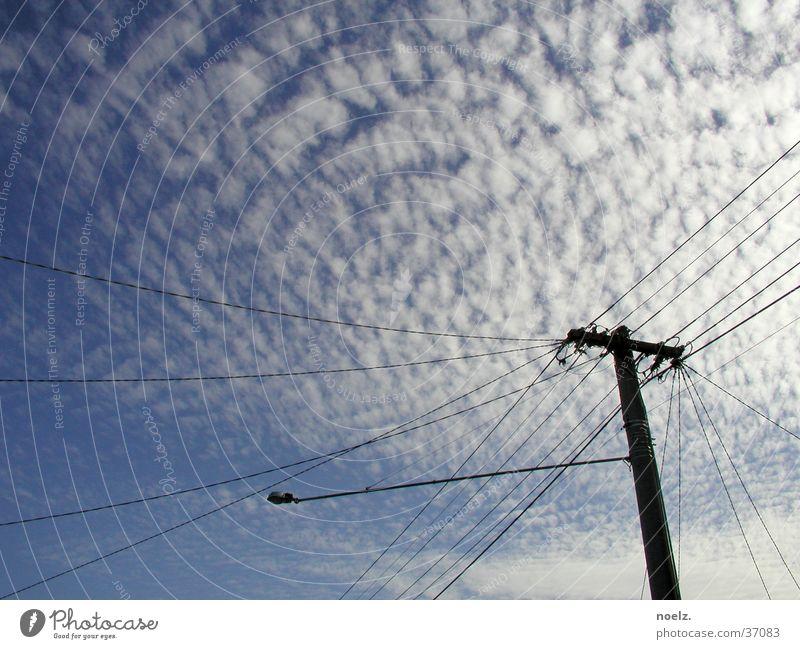 HIMMEL | STROMMAST Himmel blau Wolken Kabel Strommast Australien Melbourne