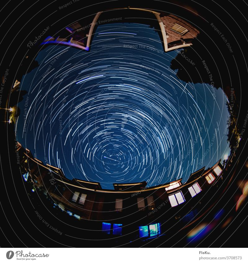 Perseiden 2020 - Langzeit Astrostacking Sterne weltall astronomie weltraum Langzeitbelichtung Astrofotografie Nachtaufnahme himmel wolkenlos sternschnuppe