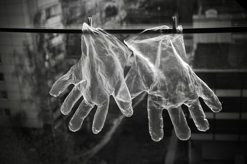 Transparente Schutzhandschuhe Einweghandschuhe Hygiene Vinyl transparent Gesundheitswesen Pharmazie Gastronomie Sicherheit Corona Untersuchungshandschuhe