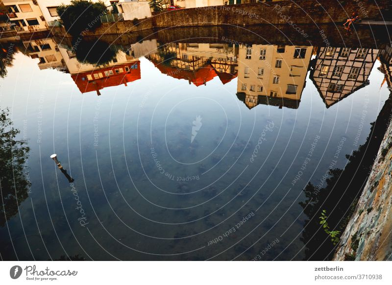6666 - Spiegelbild im Großen Teich von Soest alt see teich großer Teich spiegelbild soest altstadt wasseroberfläche antik architektur fachwerk fachwerkhaus