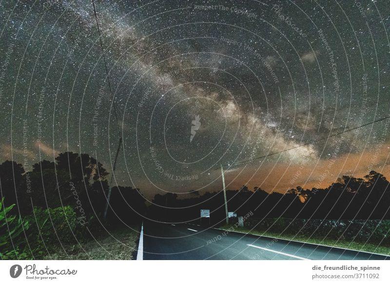 Milchstraße III Azoren Madalena Pico Portugal Landschaft Außenaufnahme Natur Menschenleer Sterne Himmel Nachthimmel Milchstrasse Astronomie Sternbild sterne
