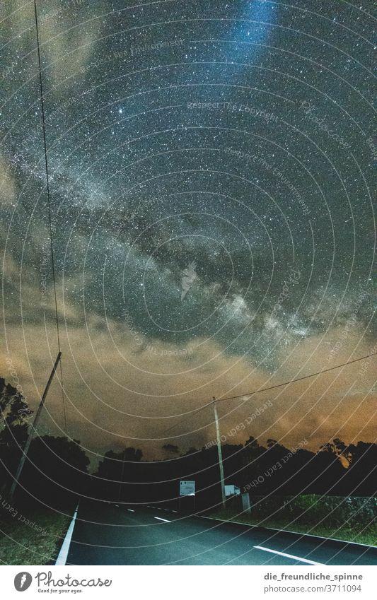 Milchstraße II Azoren Madalena Pico Portugal Landschaft Außenaufnahme Natur Menschenleer Sterne Himmel Nachthimmel Milchstrasse Astronomie Sternbild sterne