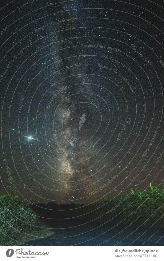 Milchstraße I Azoren Madalena Pico Portugal Landschaft Außenaufnahme Natur Menschenleer Sterne Himmel Nachthimmel Milchstrasse Astronomie Sternbild sterne