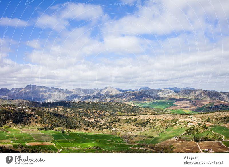Andalusiens Landschaft in Spanien Andalusia Natur reisen Europa Feld Berge Wiese ländlich
