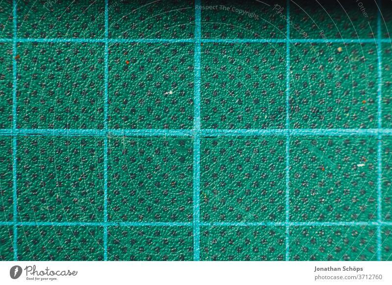 Makro Schneidematte in Türkis DIY Detail Gummi Innenaufnahme Kästchen Matte Nahaufnahme basteln blau blaugrün geometrisch gleichmäßig mintgrün türkis Farbfoto