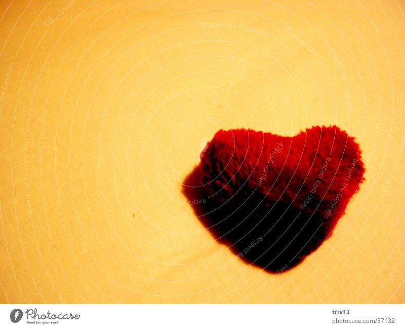 stoffhärzli rot Liebe gelb orange Herz süß Stoff Teilung