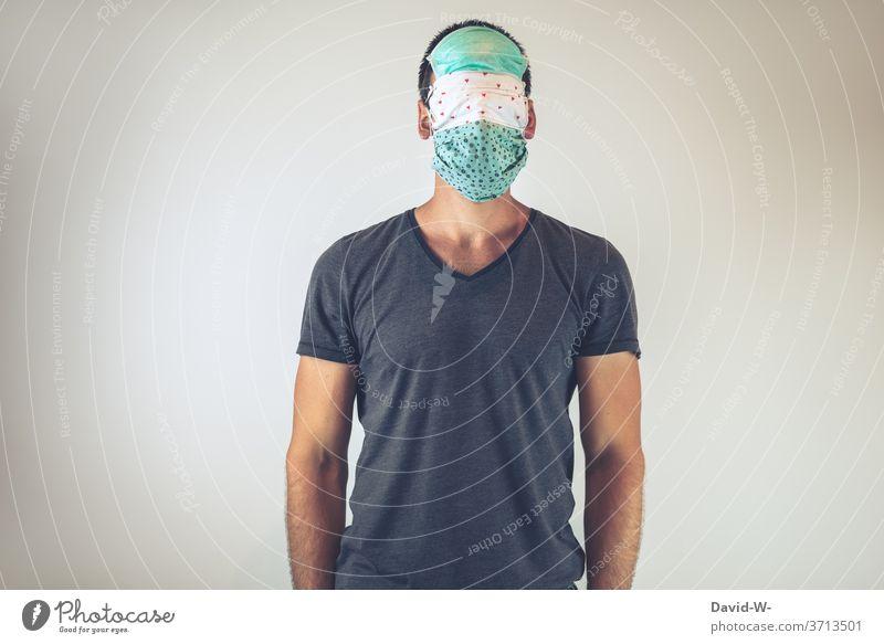 atemschutzmaske schützen Atemschutzmaske Maske Corona ängstlich sicherheit gesicht Schutz übertrieben
