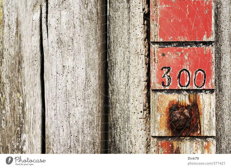 300 (ganz ohne Spartaner) Messinstrument Maßstab Anzeige Skala Wasser Küste Nordsee Mauer Wand Wasserstand Wasserstiefe Wasserstandsanzeige Gezeiten Flut Ebbe