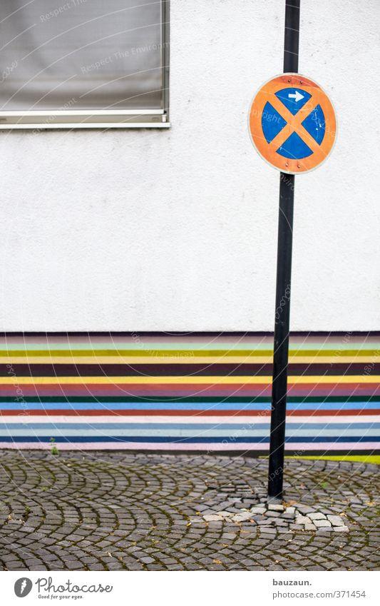 ut köln | ehrenfeld II | bunt. Stadt weiß rot Haus Fenster Wand Straße Wege & Pfade Mauer grau Stein Metall Linie Fassade Platz Beton