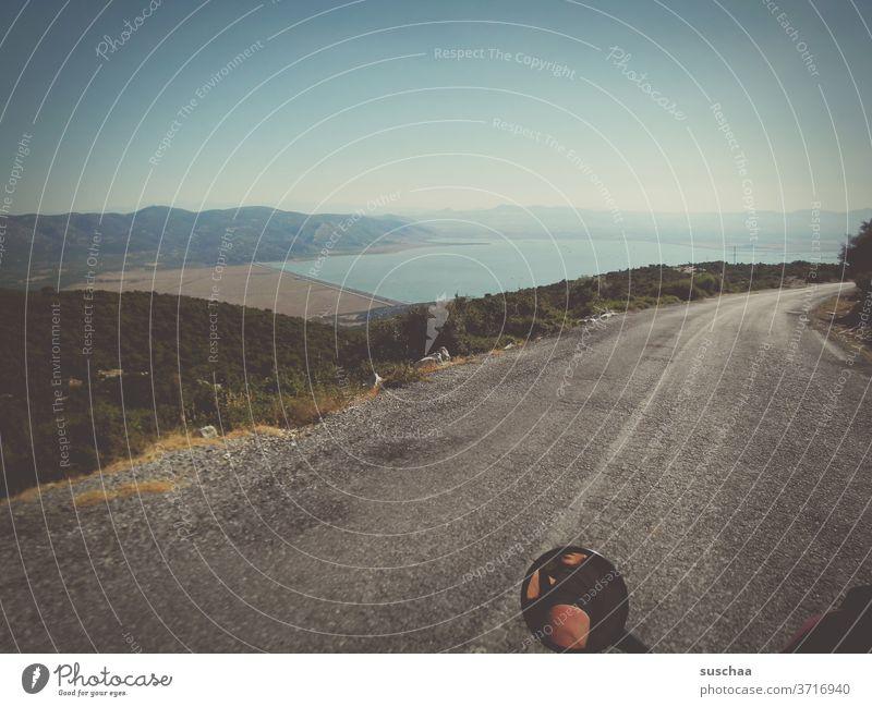fahrt auf dem motorrad quer durch den norden griechenlands | roadmovie Straße Fahrt Motorrad Motorradfahrt Fluchtpunkt Landschaft Natur Menschenleer Freiheit