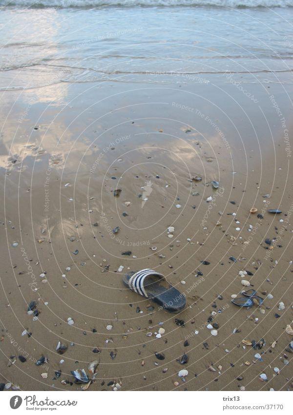 der verlorene Schuh Wasser Meer Strand Ferien & Urlaub & Reisen Sand Schuhe Küste nass Europa Muschel Schwarzes Meer