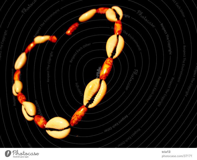 Herzkette2 Liebe schwarz Freundschaft Dinge Muschel Halskette