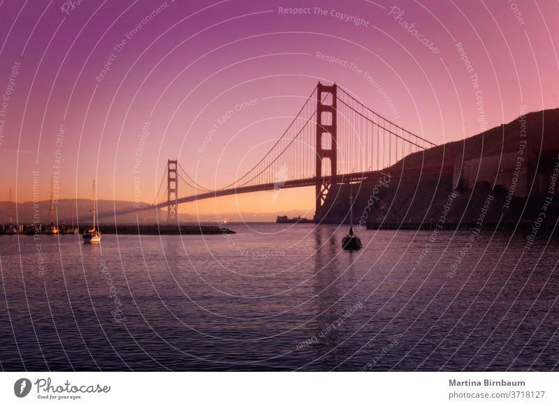 Die berühmte Golden Gate Bridge in San Francisco , vom Point Cavallo aus gesehen Brücke pazifik Kalifornien golden san francisco cavallo Punkt Kavallo-Punkt