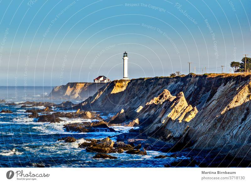 Leuchtturm Point Arena am Pazifischen Ozean, Grafschaft Mendocino, Kalifornien USA Punkt Turm Küstenstreifen point arena leuchtturm touristische Attraktionen