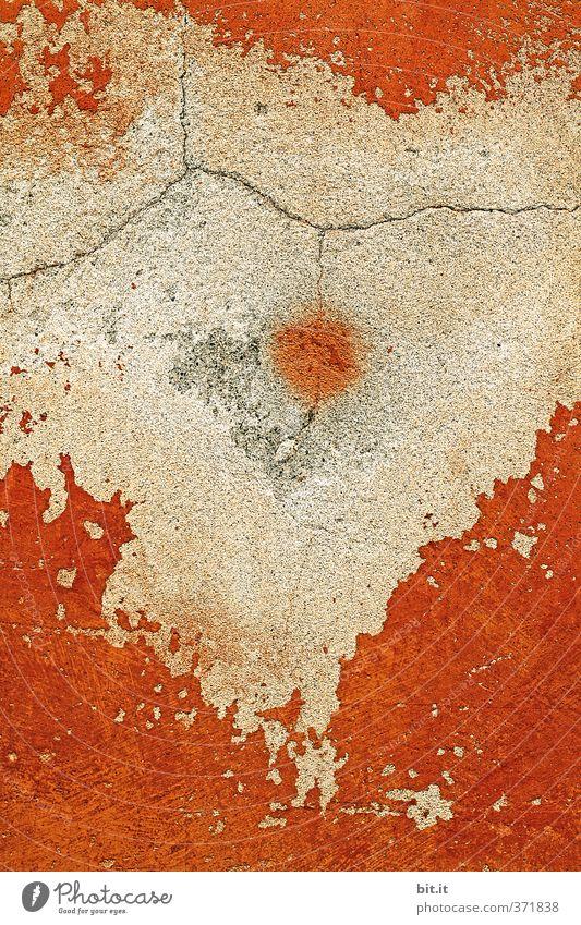 Japan liegt in Afrika rot Haus Graffiti Wand Wärme Mauer Stein Fassade Zufriedenheit Beton Dekoration & Verzierung Zukunft kaputt Vergänglichkeit Wandel & Veränderung rund