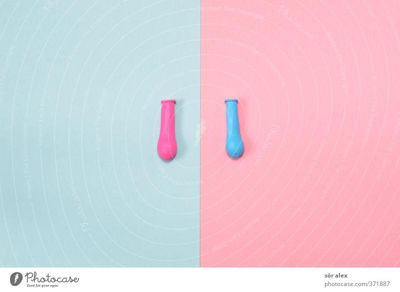 XX oder XY? maskulin feminin Luftballon blau rosa Gesellschaft (Soziologie) Sex Sexualität Geschlecht Geburt Traumkind Nachkommen Sohn Tochter Chromosom
