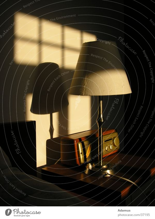 Morning light Sonne Lampe Stil Häusliches Leben Hotel Radio altmodisch
