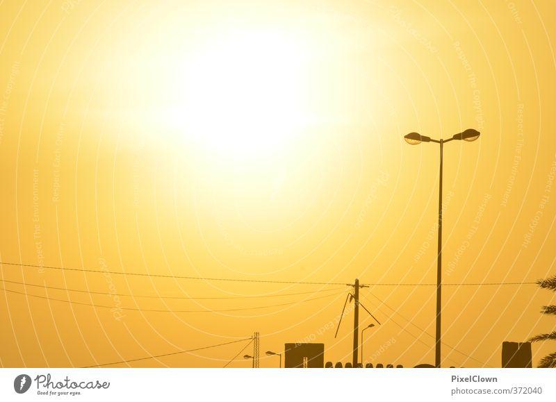 Sonnige Zeiten Himmel Ferien & Urlaub & Reisen Sommer Sonne gelb Freiheit Glück Sand hell Luft Abenteuer Lebensfreude Wüste trocken heiß Kopftuch