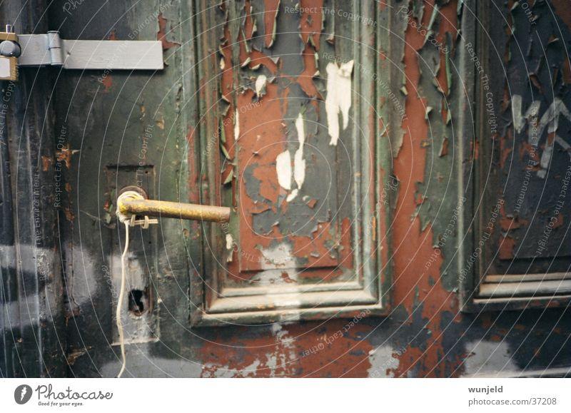 Tür alt grün braun Tür Freizeit & Hobby verfallen Eingang