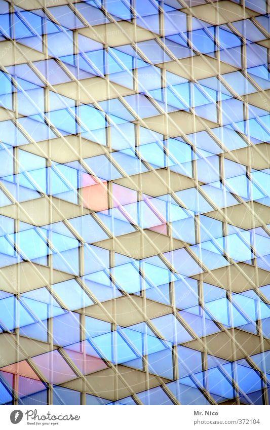 fun house | ut köln | ehrenfeld II Stadt Hochhaus Bauwerk Gebäude Architektur Fassade blau Doppelbelichtung Lifestyle durcheinander Stil Kunst Fenster