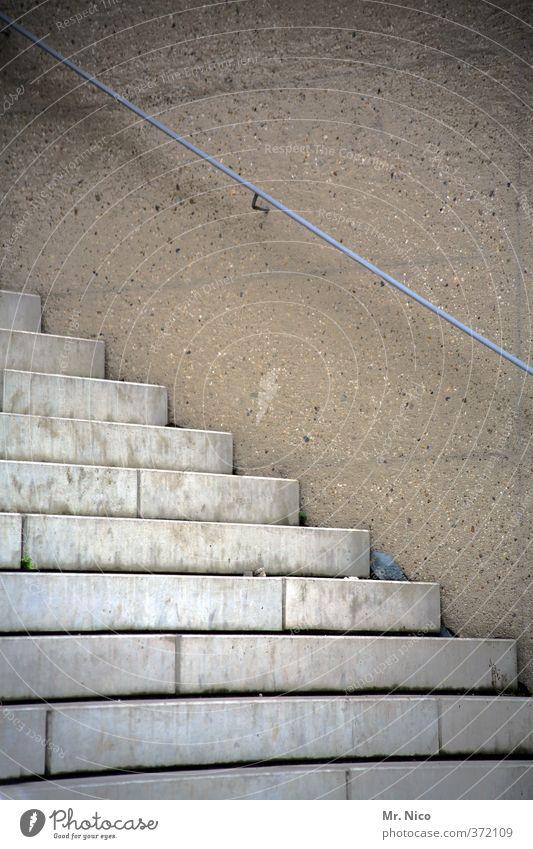 baumängel* | ut köln | ehrenfeld II Stadt Haus Bauwerk Gebäude Architektur Mauer Wand Treppe Fassade Stein Beton Metall grau Treppengeländer Neubau Fehler