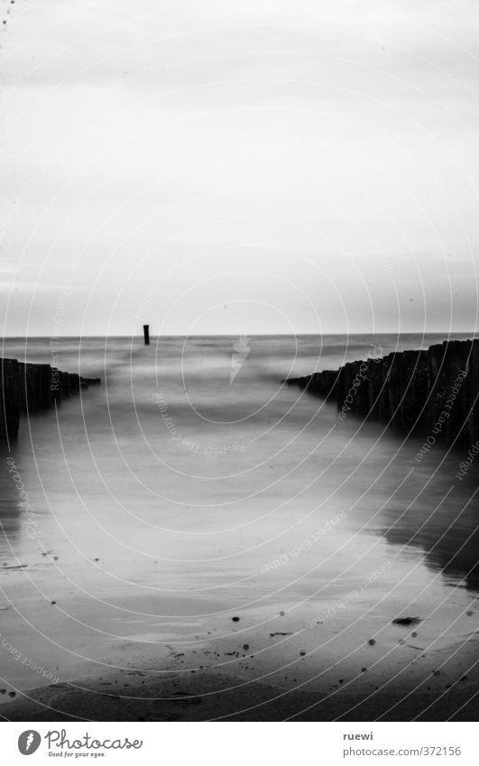 Wann kommt die Flut? ruhig Meditation Ferien & Urlaub & Reisen Tourismus Sommer Strand Meer Landschaft Luft Wasser Himmel Wolken Horizont Klima Wetter