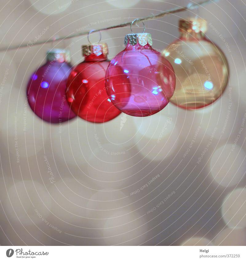 gläsern... Weihnachten & Advent rot gelb außergewöhnlich Metall Stimmung braun rosa glänzend Häusliches Leben leuchten Design Glas Ordnung Dekoration & Verzierung ästhetisch