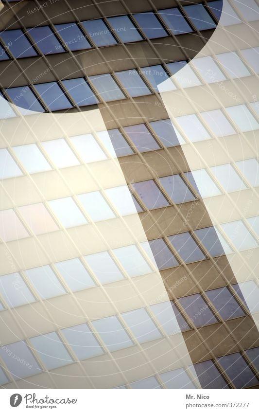 grafisch | zusammen Stadt Fenster Architektur Linie Fassade Hochhaus Lifestyle Perspektive Turm Neigung Bauwerk bizarr Köln Doppelbelichtung Irritation Fernsehturm