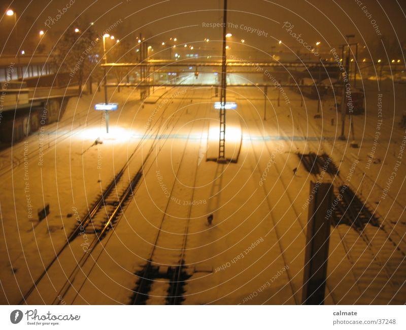 ..:baanhoof:.. Winter Gleise Eisenbahn Verkehr Bahnhof St.Fiden St. Gallen CH Schnee