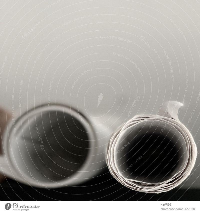 Pläne machen - die Zukunft in der Rolle planen Architektur Zeichnung Entwurf Planungsbüro aufgerollt Papier Design Gemälde Kreativität Künstler zeichnen Kunst