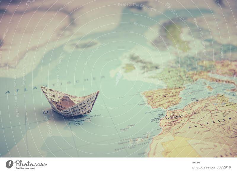 Gute Reise Ferien & Urlaub & Reisen Meer Reisefotografie Spielen klein Wasserfahrzeug Erde Freizeit & Hobby Lifestyle niedlich Papier Kreativität Idee
