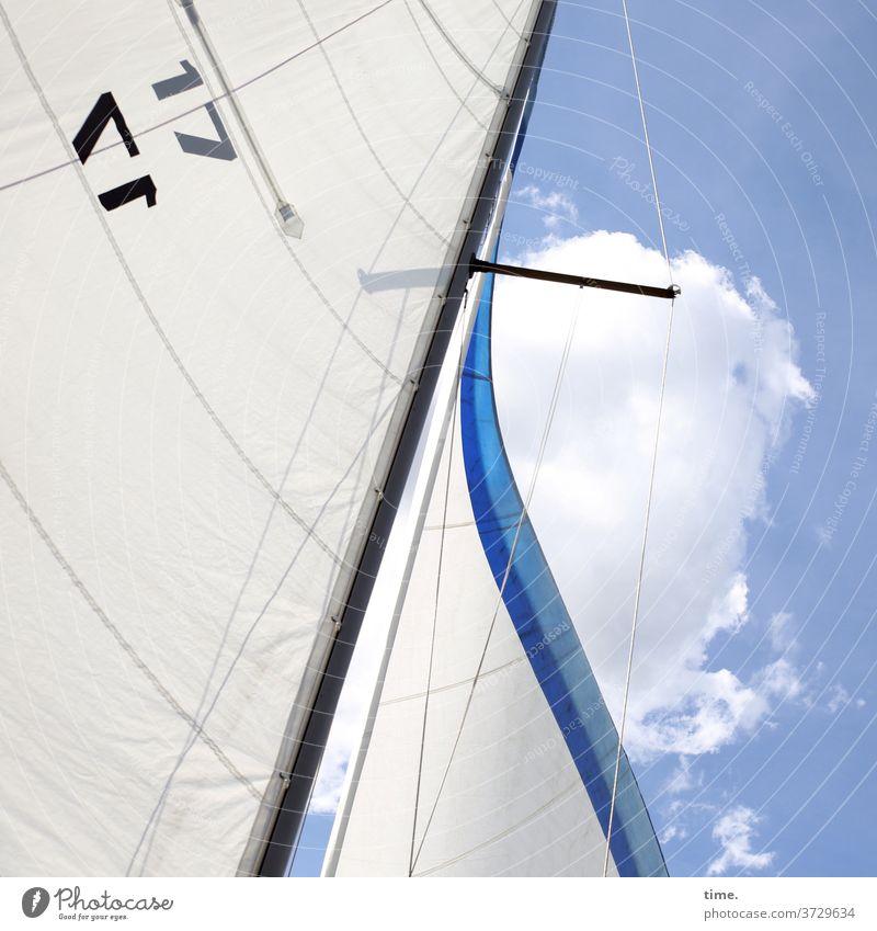 headlines (1) segel himmel segelschiff segeltuch wind mast segelmast wolken zahl 17 tau tampen seil unterwegs sonnig