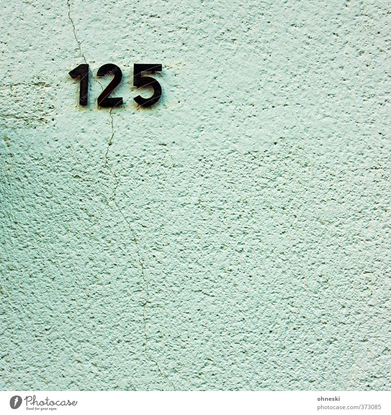 125 Haus Wand Mauer Gebäude Fassade Ziffern & Zahlen Riss Hausnummer