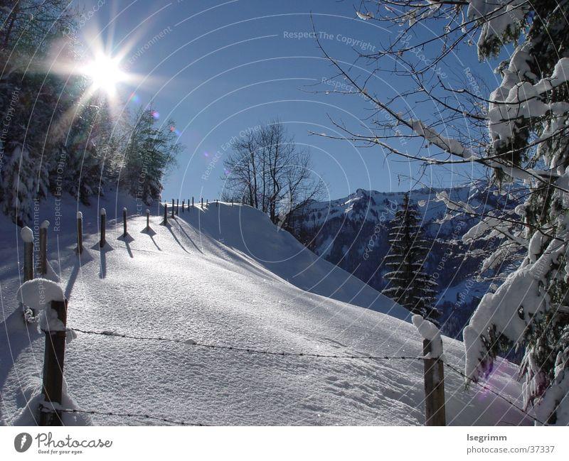 snow landscape Winter ruhig kalt Stimmung Berge u. Gebirge Schnee Sonne