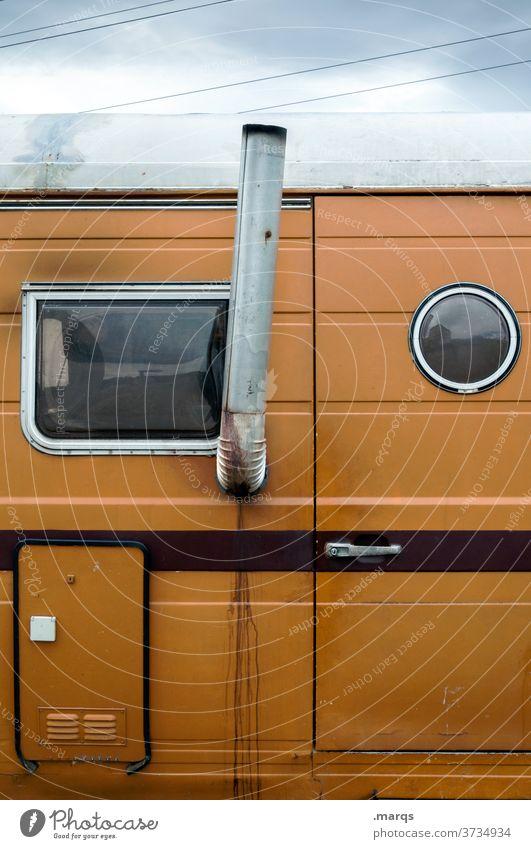 Wohnsitz Wohnmobil Ferien & Urlaub & Reisen Camping Wohnwagen Freizeit & Hobby Freiheit Fenster Seitenansicht Sommerurlaub Camper Ausflug Bus Leidenschaft