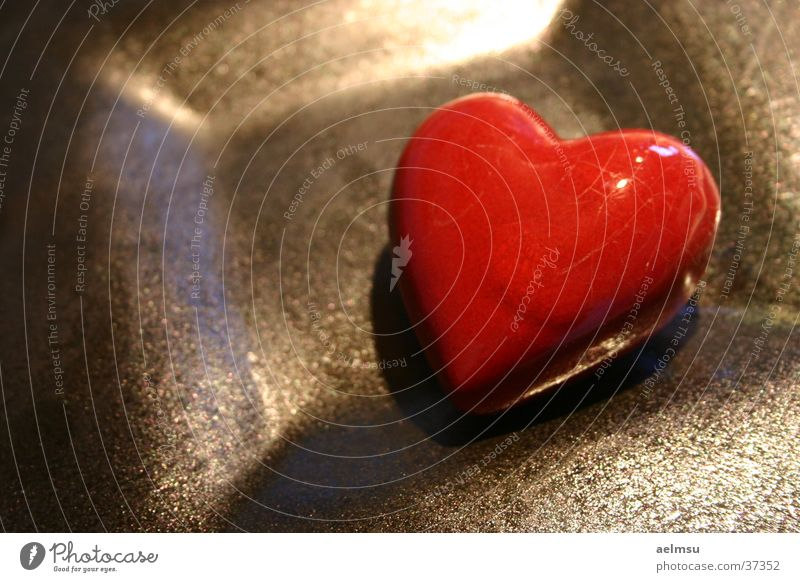 Herz rot Liebe Romantik Kitsch