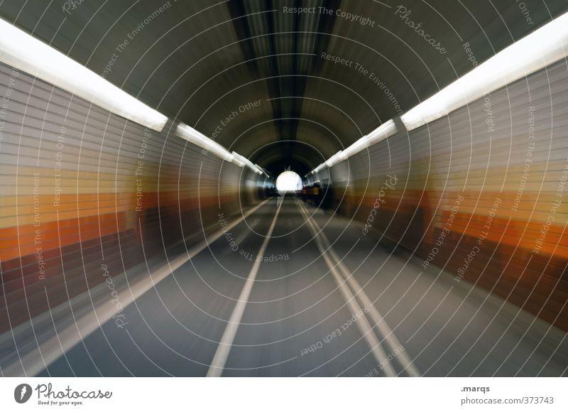 Zoom elegant Stil Design Verkehr Verkehrswege Straße Wege & Pfade Tunnel Linie fahren retro Geschwindigkeit Fortschritt Ziel Zukunft Fluchtpunkt Farbfoto