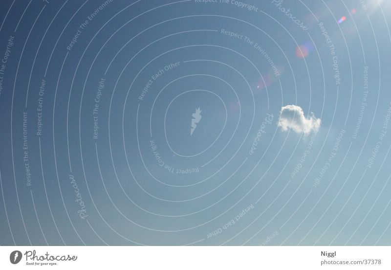 einsame Wolke Himmel blau Wolken Einsamkeit