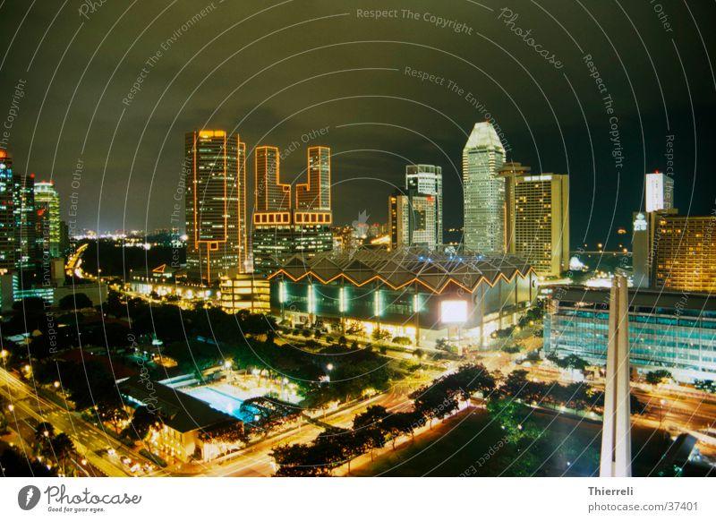 Singapur by Night #2 Singapore Stadt Langzeitbelichtung Nacht Asien Erfolg Skyline