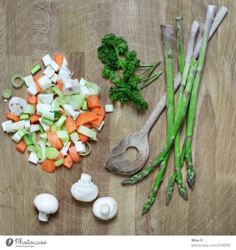 Eintopp grün Gesundheit Lebensmittel frisch Ernährung Kochen & Garen & Backen Kräuter & Gewürze Gemüse Bioprodukte Abendessen Diät Fasten Mittagessen Vegetarische Ernährung Möhre Suppe