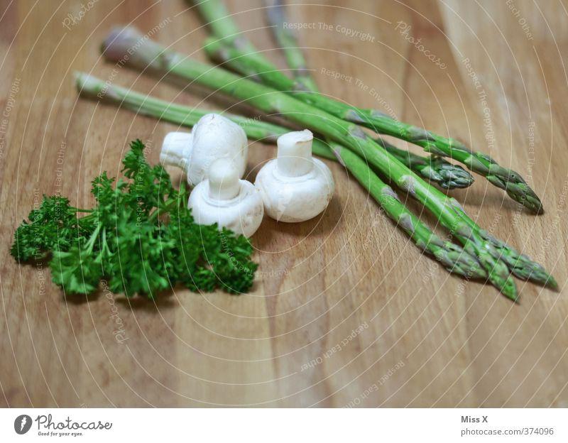 Gesund Lebensmittel Gemüse Kräuter & Gewürze Ernährung Bioprodukte Vegetarische Ernährung Diät Fasten frisch Gesundheit lecker grün Petersilie Spargel