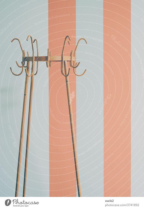 Paralleluniversum Garderobe leer einfach Metall Wand Muster Streifen abstrakt Textfreiraum rechts Linie Menschenleer Strukturen & Formen Farbfoto modern