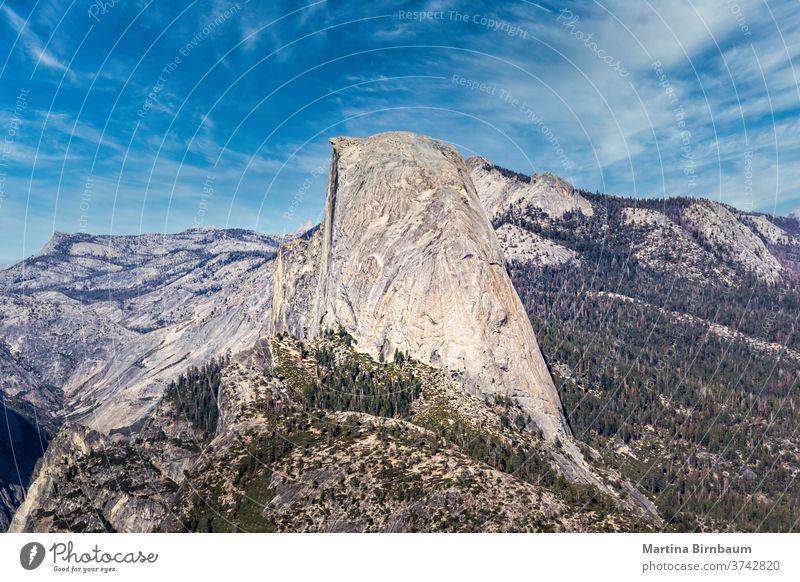 Blick vom Sentinel Dome auf den Half Dome, Yellowstone-Nationalpark, Kalifornien übersehen berühmt Hälfte yosemite Yosemite NP el capitan USA Landschaft Tal